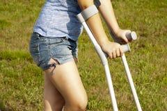 crutches Immagini Stock