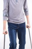 Crutches in both hand Stock Photos