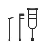 Crutches and Canes. Illustration Crutches and Canes, Pictograms  on White Background - Vector Stock Photos