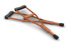 Crutches (clipping path included) Royalty Free Stock Image