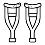 Crutches icon vector vector illustration