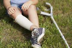 Crutches Royalty Free Stock Photography