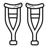 Crutches o vetor do ícone ilustração do vetor