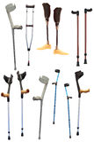 Crutches and prosthetic devices Stock Photo