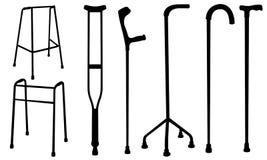 Crutches Royalty Free Stock Photos