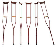 Crutches on white background. Isolated 3D rendering Royalty Free Stock Image