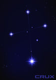 Crux constellation. Vector illustration of Crux constellation in blue Stock Photo