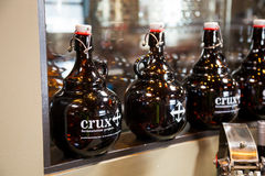 Crux Fermentation Growlers Stock Photography