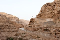 Crux in judean desert Stock Image