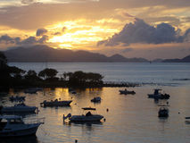 Cruz海湾,圣约翰U S 处女的海岛 库存图片