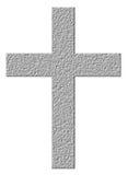 cruz 3D de pedra Fotografia de Stock