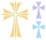 Cruz abstracta stock de ilustración
