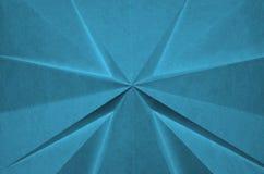 Cruz abstracta de la papiroflexia azul foto de archivo