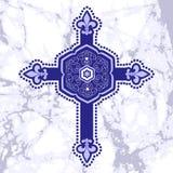 Cruz antiga ilustração royalty free