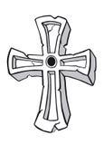 Cruz antigua Imagen de archivo libre de regalías