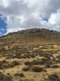 Cruz for away in Cheiron. Mountains, drought, peak, France Royalty Free Stock Photo