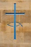 Cruz azul Imagens de Stock