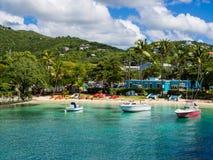 Cruz Bay, die Jungferninseln, Johannes, karibisch stockfotografie