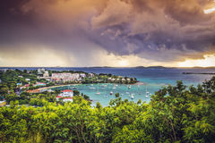 Cruz Bay, St John Fotografia de Stock Royalty Free