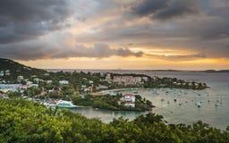 Cruz Bay, St John Foto de Stock