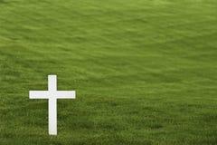 Cruz blanca Imagen de archivo libre de regalías