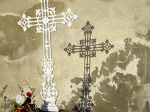 Cruz blanca foto de archivo libre de regalías
