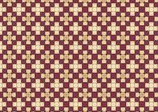 Cruz branca teste padrão Chequered Imagens de Stock