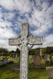 Cruz céltica en Gaelic Chapel en Cromarty, Escocia Imagenes de archivo