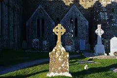 Cruz céltica en Irlanda Fotos de archivo libres de regalías