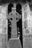 Cruz céltica en la abadía de Muckross, parque nacional de Killarney, condado Kerry, Irlanda Imagenes de archivo