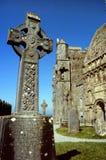 Cruz céltica irlandesa imagenes de archivo
