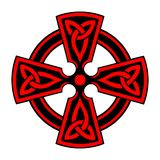 Cruz céltica ornamental Foto de archivo