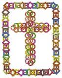 Cruz católica floral simple Imágenes de archivo libres de regalías