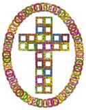 Cruz católica floral simple Fotos de archivo