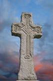 Cruz celta com projeto da tradição Fotos de Stock