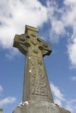 Cruz celta do cemitério irlandês Fotos de Stock