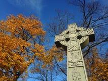 Cruz celta - monumento irlandês da fome Fotos de Stock Royalty Free
