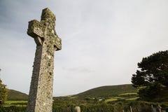 Cruz celta perto do zennor Cornualha Reino Unido fotos de stock royalty free