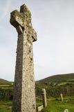 Cruz celta perto do zennor Cornualha Reino Unido foto de stock royalty free