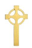 Cruz céltica de oro Imagenes de archivo