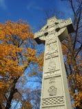 Cruz céltica - monumento irlandés del hambre Foto de archivo libre de regalías