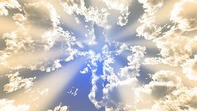 Cruz colorida de la nube Imagen de archivo libre de regalías