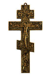 Cruz com Jesus Cristo crucified imagem de stock royalty free