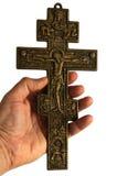 Cruz com Jesus Cristo crucified imagens de stock royalty free
