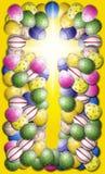 Cruz con la frontera del huevo Imágenes de archivo libres de regalías