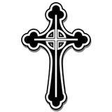 Cruz cristã ilustração stock