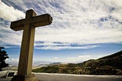 Cruz cristã imagem de stock