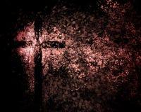 Cruz cristã abstrata fotografia de stock