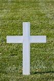 Cruz cristã branca Fotografia de Stock