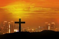 Cruz cristã Foto de Stock